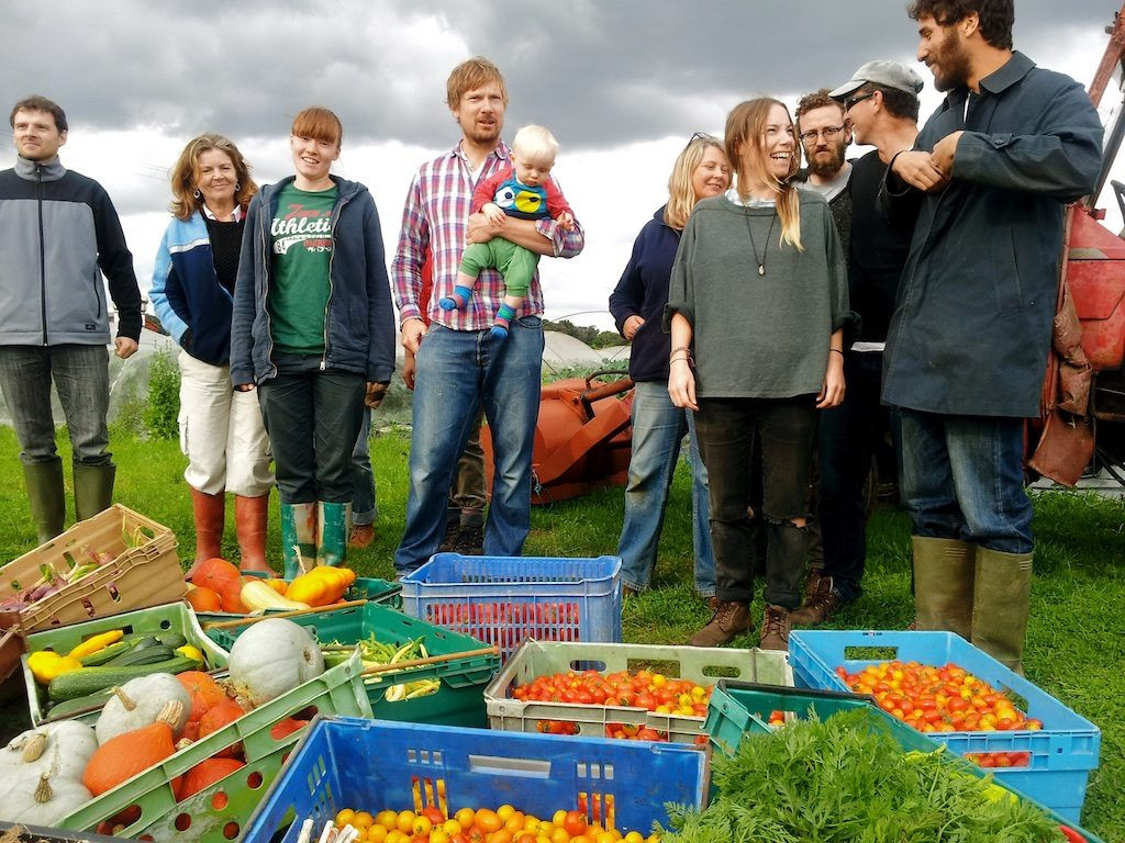 Group photo with veg