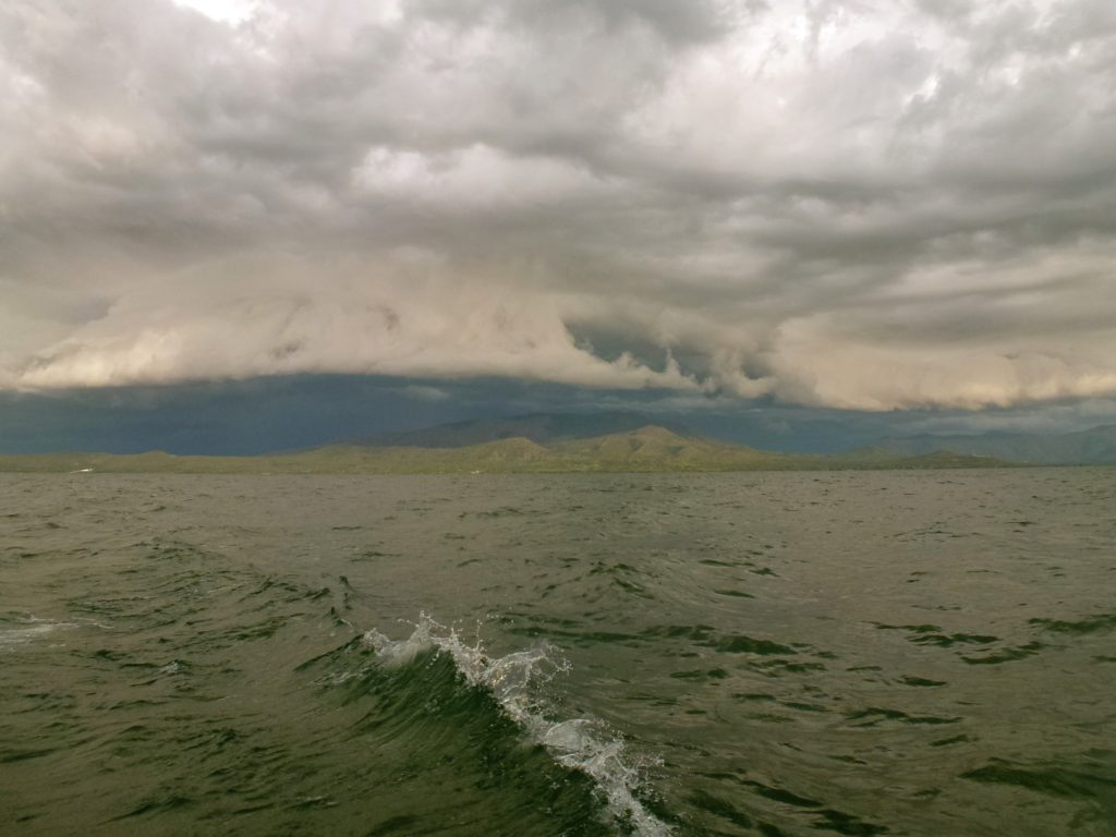 Amazing clouds and storms chased us from Mbita